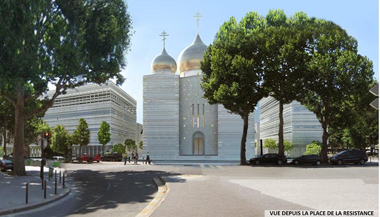 Православная церковь в Париже, проект Жана-Мишеля Вильмотта