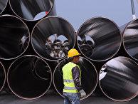 Трубы для строительства Трансадриатического газопровода в Дуррес