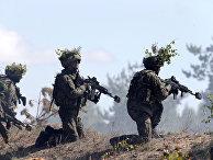 Польские солдаты принимают участие в военных учениях НАТО Saber Strike