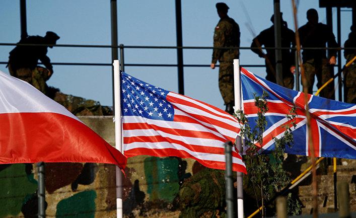 Флаги стран-участниц учений НАТО «Анаконда-16» в Польше
