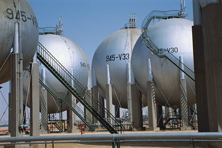 Газовые резервуары компании Saudi Aramco