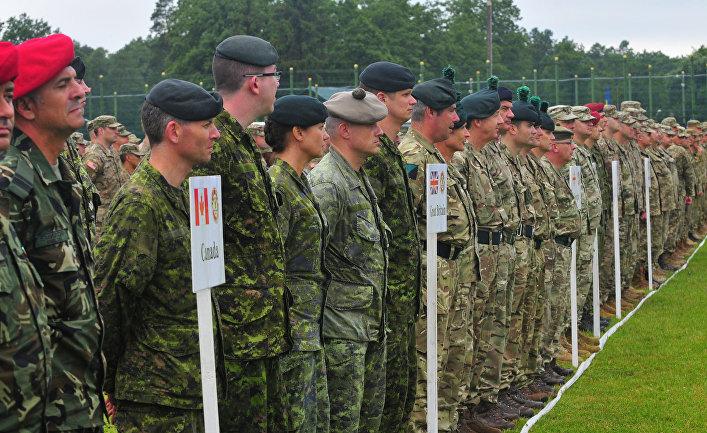 Солдаты из 13 стран на учениях Rapid Trident-2016