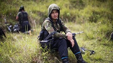 Лагерь Революционных вооруженных сил Колумбии (ФАРК) в Андах