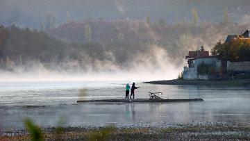 Утро на симферопольском водохранилище в Крыму
