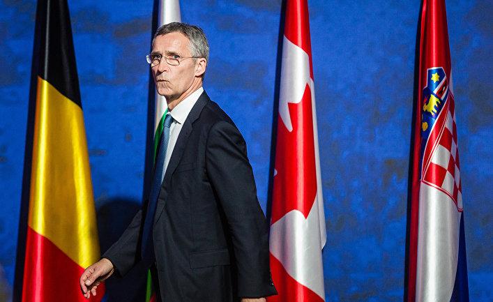 Генеральный секретарь НАТО Йенс Столтенберг во время саммита НАТО в Варшаве