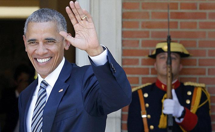 Президент США Барак Обама во Дворце Монклоа в Мадриде