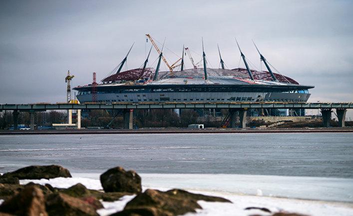 Строительство стадиона «Зенит-Арена» на Крестовском острове