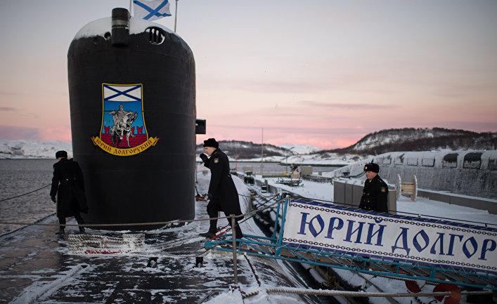 Атомная подводная лодка «Юрий Долгорукий» Северного флота ВМФ России