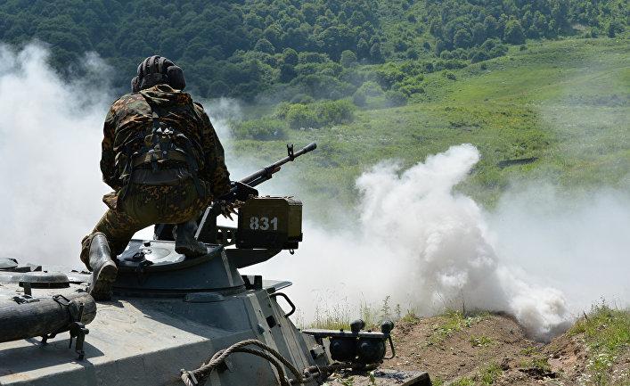 Учения мотострелковой горной бригады ЮВО МО РФ на полигоне Альпийский