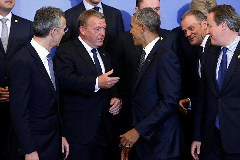 Премьер-министр Дании Ларс Лекке Расмуссен и президент США Барак Обама