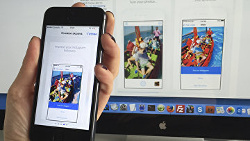 Приложение Prisma на экране смартфона iPhone