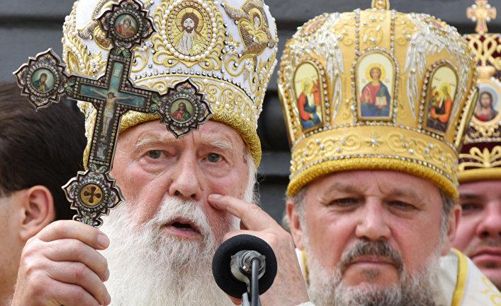Крестный ход Украинской православной церкви в Киеве