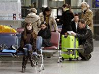 В зале ожидания аэропорта Вильнюса