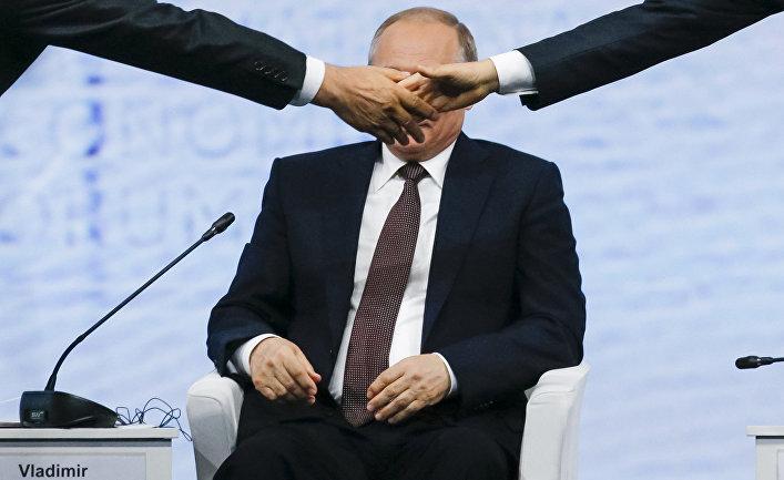 Президент России Владимир Путин на Петербургском международном экономическом форуме