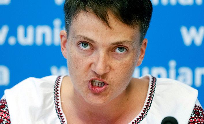 Надежда Савченко на пресс-конференции в Киеве