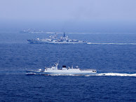 Китайские военные корабли принимают участие в учениях в Восточно-Китайском море