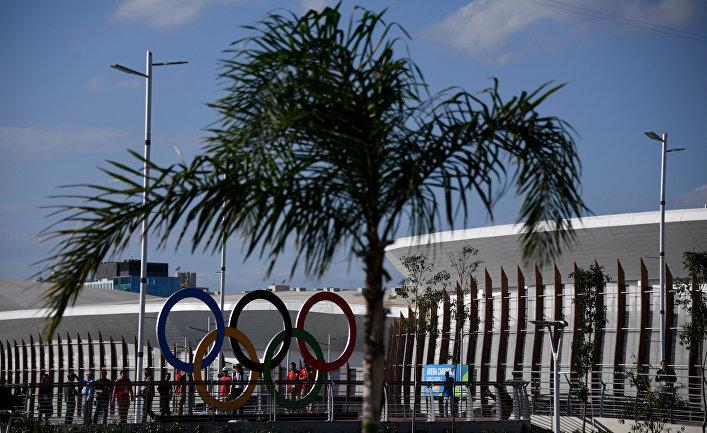 В олимпийском парке Рио-де-Жанейро, Бразилия