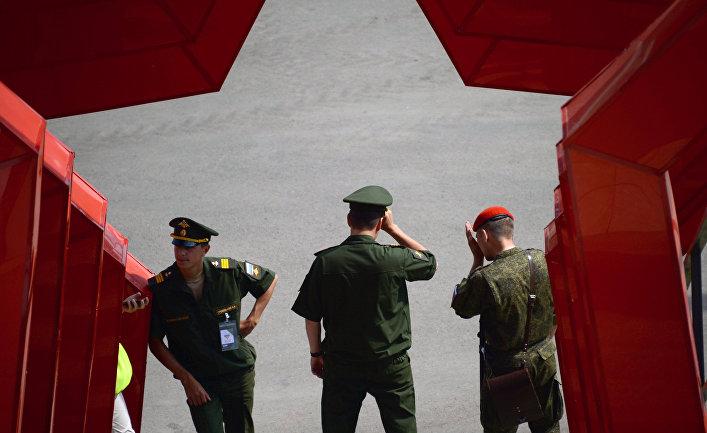 Военнослужащие во время проведения «Армейских международных игр-2016»