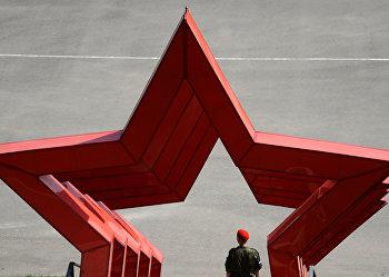 Военнослужащий во время проведения «Армейских международных игр-2016»
