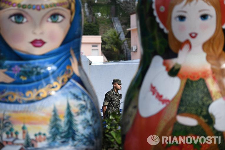 Открытие дома болельщиков олимпийской сборной России в Рио-де-Жанейро