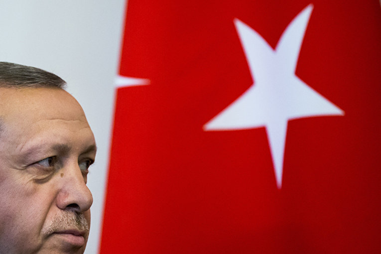 Президент Турции Реджеп Тайип Эрдоган во время встречи с президентом России Владимиром Путиным