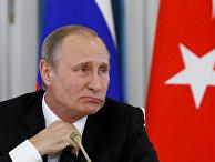 Президент России Владимир Путин на пресс-конференции