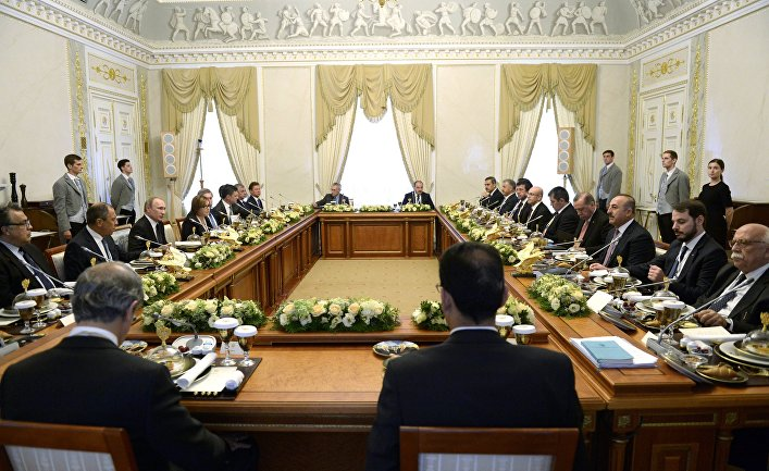 Встреча президентов России и Турции Владимира Путина и Реджепа Тайипа Эрдогана в Санкт-Петербурге. 9 августа 2016 года