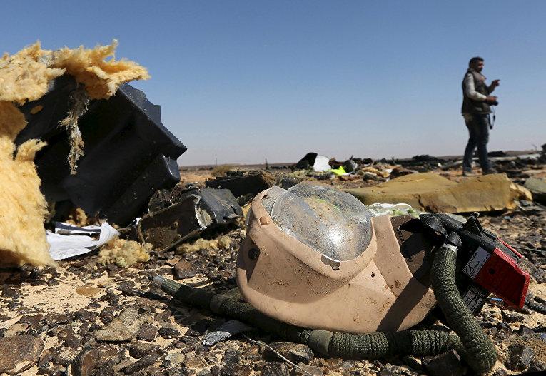 "Обломки самолета Airbus A321 авиакомпании ""Когалымавиа"" в Египте"