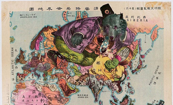 Карикатурная карта 1900 года