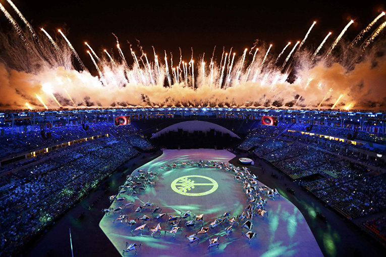 Салют над стадионом «Маракана»
