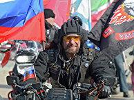 """Президент Всероссийского мотоклуба """"Ночные волки"""" Александр Залдостанов"""