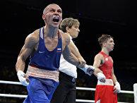 Российский боксер Владимир Никитин после победы над ирландцем Майклом Конланом на Олимпиаде-2106 в Рио-де-Жанейро. 16 августа 2016