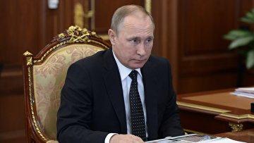 Президент РФ В. Путин встретился с врио главы Республики Коми С. Гапликовым