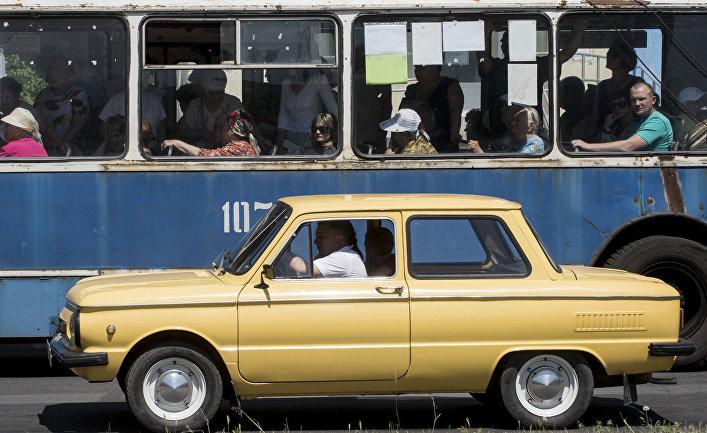 Улица в Северодонецке Луганской области