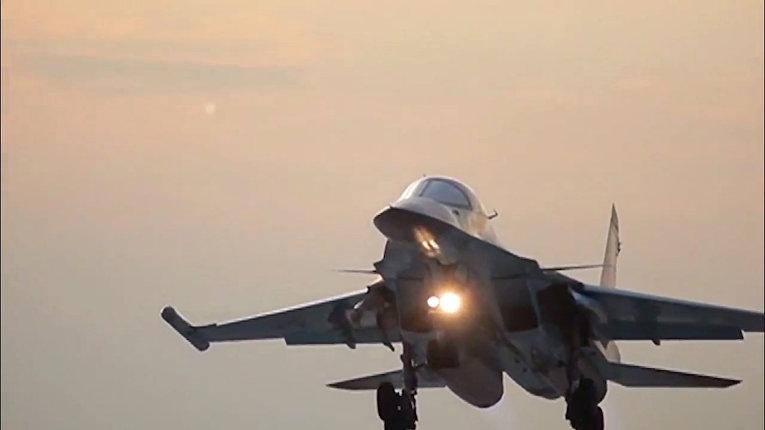 Авиаудары бомбардировщиков Су-34 ВКС РФ с авиабазы Хамадан по объектам ИГ в Сирии