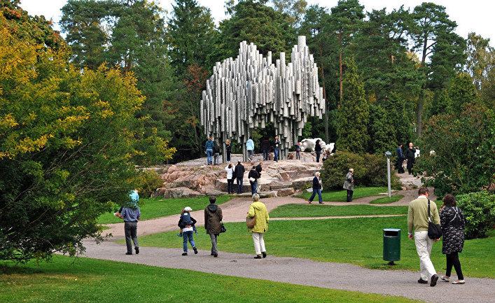 Памятник Сибелиусу, Хельсинки, Финляндия