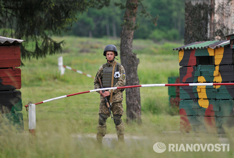 Военные учения во Львовской области