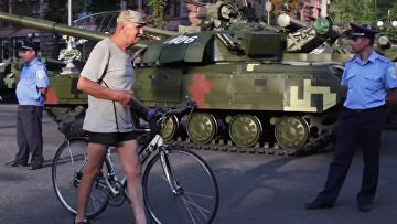 Репетиция парада в Киеве