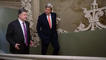 Встреча президента Украины Петра Порошенко с Государственным секретарем США Джоном Керри