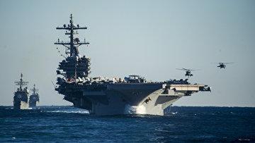 Американский авианосец типа «Нимиц» USS George H.W. Bush