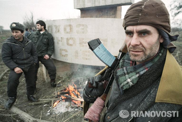 Боевик в Чечне