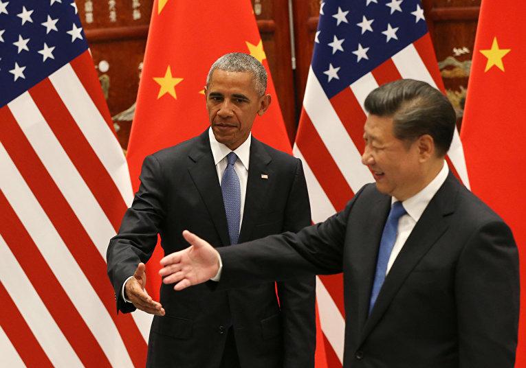 Президент США Барак Обама и председатель КНР Си Цзиньпин