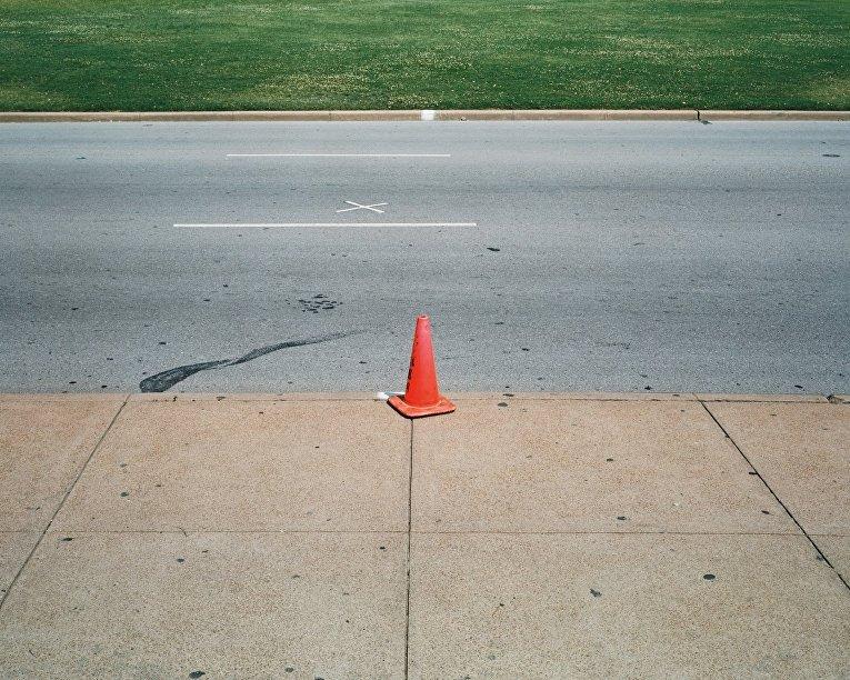 Место убийства Джона Ф. Кеннеди в районе Далласа Дили Плаза
