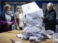 Подсчет голосов после выборов в Кишиневе