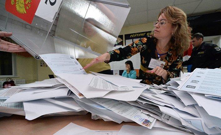 Подсчет голосов в единый день голосования