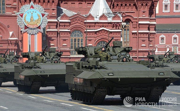 Генеральная репетиция военного парада в ознаменование 70-летия Победы в Великой Отечественной войне 1941-1945 годов