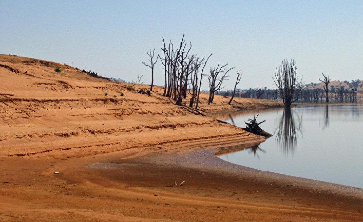Озеро Хьюм в Австралии