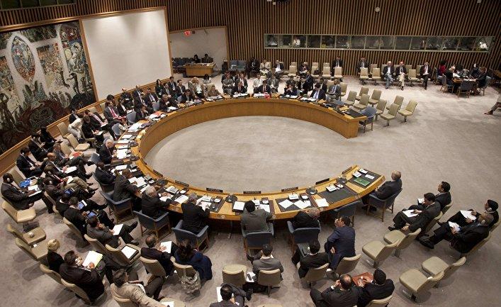Заседание Совета Безопасности ООН по сирийской резолюции