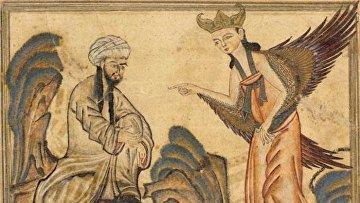 Мухаммед получает своё первое откровение от ангела Джабраила