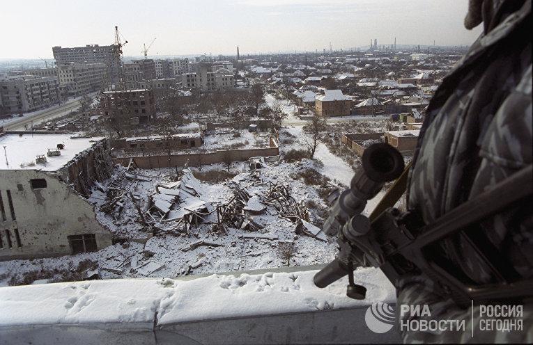 Вид на центр города Грозный
